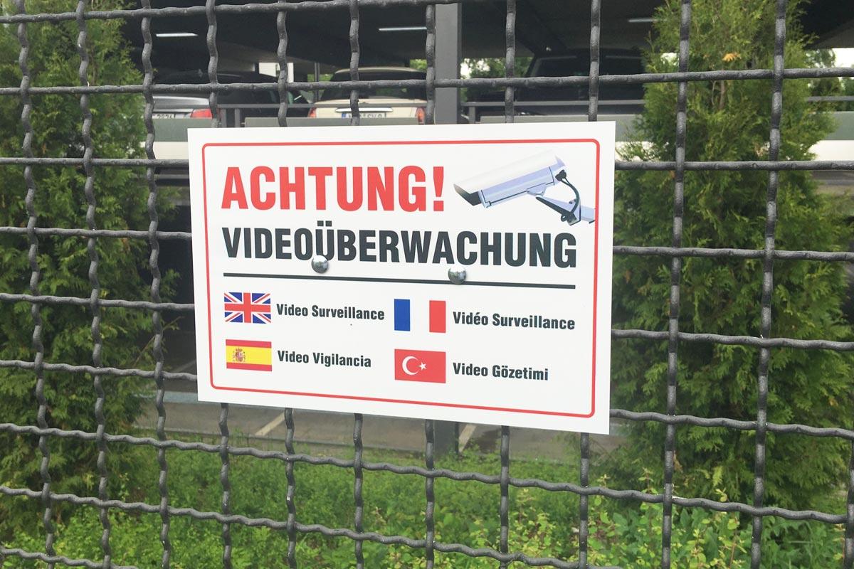 videoüberwachte Parkplätze